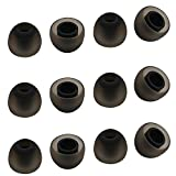 ALXCD Ear Tip for Jay Bird X4 X3 Earphone, Medium Size 6 Pair Soft Silicone Replacement Earbud Tips, Fit for Jay Bird Bluebud X3 X4 Earphone [6 Pair/4.5mm](M)