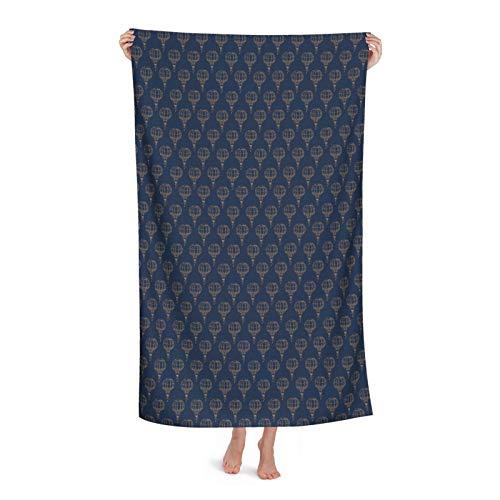 Con Globos Vintage Towel-Quick Dry Super Absorbente Ligero Oversize Toallas Manta de Microfibra Playa para Viajes Piscina Toalla de Baño, 32 x 52 pulgadas