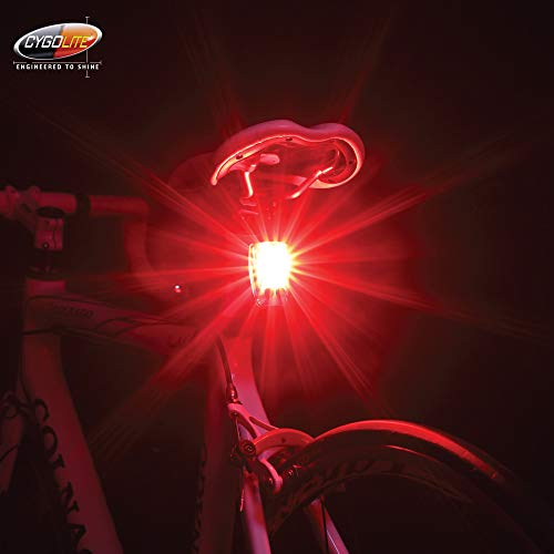 Cygolite Hotshot Pro– 150 Lumen Bike Tail Light– 6 Night & Daytime Modes– User Tuneable Flash Speed– Compact Design…