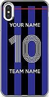 【200機種以上対応】 サッカー iPhone Xperia Galaxy 楽天Mobile UQ Yモバ Android 好きな 背番号 名前 チーム名 カスタム スマホケース (品番:JP_05) 4 iPhone XS/X