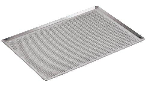 PADERNO 41756-60 Teglia Fondo Forato Bordi 45 Gradi, Alluminio