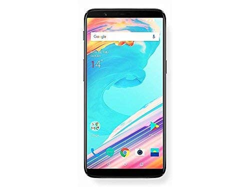 OnePlus 5T A5010 64GB Midnight Black, Dual Sim, 6.01', 6GB RAM, GSM Unlocked International Model, No Warranty (Renewed)