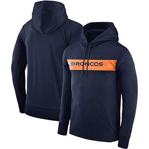 Sudadera de fútbol americano para hombre con capucha para hombre, estilo casual, primavera, otoño, invierno, fútbol, manga larga, con bolsillos, color azul marino