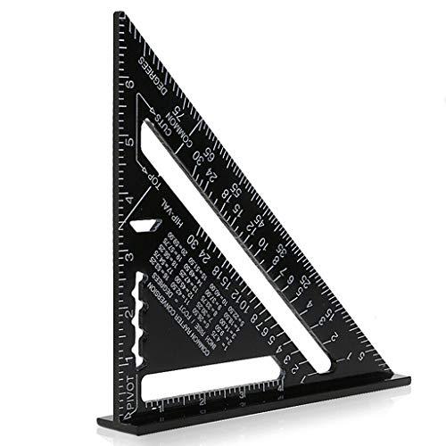 12 Zoll Aluminiumlegierung Dreieck Herrscher, Quadrat Winkelmesser Hohe Präzision Messwerkzeug für Ingenieur Tischler