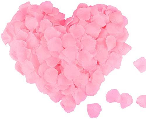 Mitening 3500 Stück Rosenblätter, Seide Rosenblüten Rosen Blätter Blüten Rot Kunstblumen Seidenblumen für Hochzeit, Geburt, Taufe, Valentinstag, Geburtstag Party Dekoration, Romantische Atmosphäre