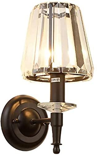 YONGYONGCHONG lámpara de Pared Crystal Elegant Light Lighty Lámpara de Cama Lámpara de Cama Dormitorio Sala de Estar Fondo Corredor Creativo Pasillo Escalera Lámparas iluminación