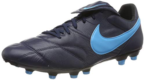 Nike The Premier II FG, Zapatillas de Fútbol Unisex Adulto, Negro (Obsidian/Lt Current Blue/Black 440), 44 EU