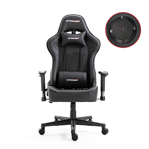 Gaming Chair with Speakers Video Game Chair Racing Style Ergonomic Office Chair...
