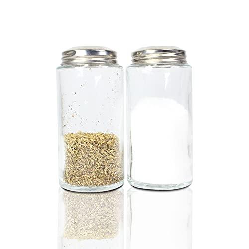 Salero y pimentero, 2 especieros. Juego de Salero y Pimentero Para Cocina/ Espaciador Salero y Pimentero/ Juego de Salero y Pimenteros de Cristal.(170ml)