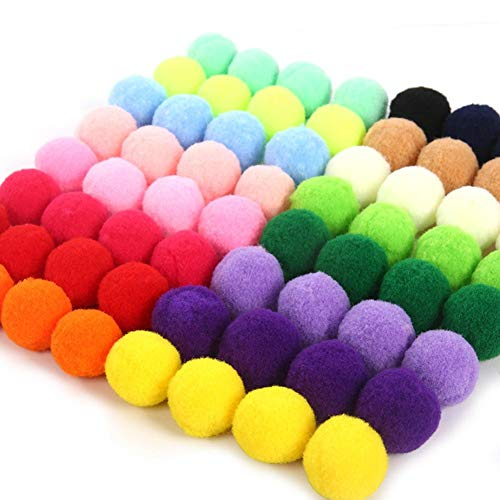 Farbe Haarkugel Pom-Pom Mini Pompons Plüschkugel weichen flauschigen Ball Kindergarten Kinder DIY handgefertigte Materialien