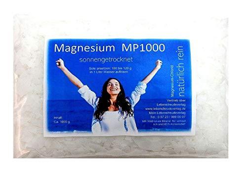 Magnesium-Chlorid Granulat im 1000g Beutel - Nehmen Sie Magnesium in einer besonders reinen und vom Körper schnell verwertbaren Form ein: Als luftgetrocknetes Magnesiumchlorid vom Toten Meer! Nur das Beste für Ihren Körper! LABORGEPRÜFT & LEBENSMITTELREIN