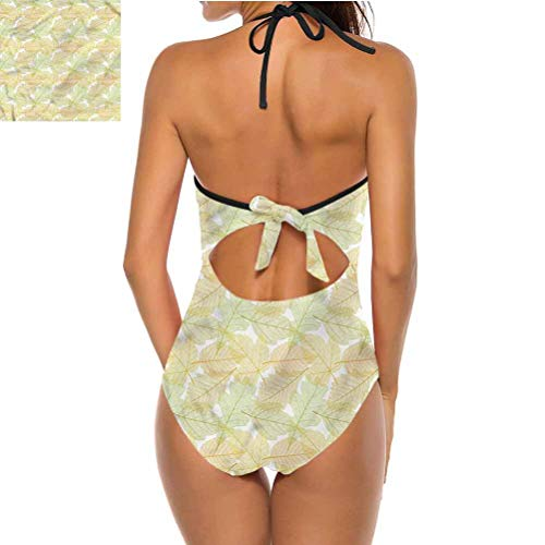Adorise Women's Bikini Set Seasonal Acacia Foliage for Beach/Hiking Activities