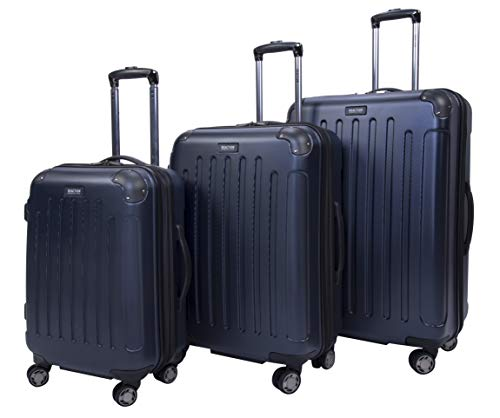Kenneth Cole Reaction Renegade 3-Piece Lightweight Hardside Expandable 8-Wheel Spinner Travel Luggage Set: 20' Carry-on, 24', 28' Suitcases, Navy