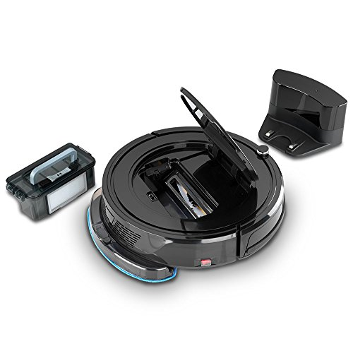 Blaupunkt Saugroboter mit Wischfunktion (Automatischer Staubsauger Roboterstaubsauger) Bluebot, HEPA-Filter & Nasswischfunktion für Allergiker, Fallschutz, Ladestation, Schwarz, 35 Watt - 5