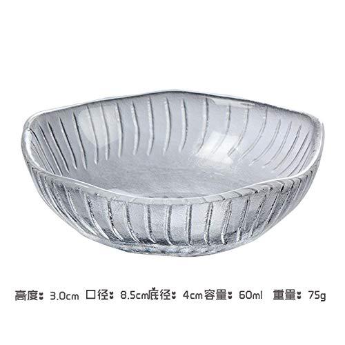 Teller 2 Stück Kreativität Im Japanischen Stil Transparente Glasschalen Für Die Küche Unregelmäßiges Geschirr Eintauchen Kleine Schüssel Obst Snackpla