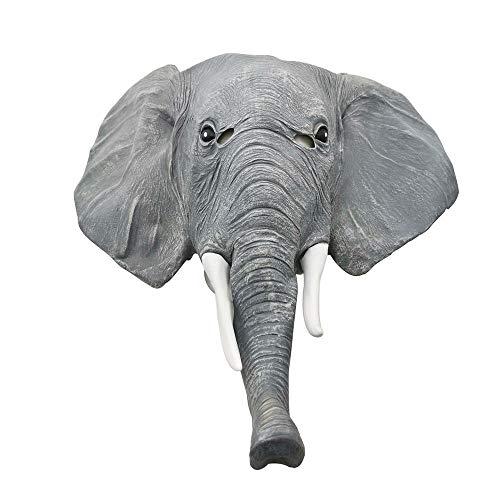 QAZXS Halloween Elefant Asiatischer Elefant Tiermaske Elefantenmaske Parodie Perücke