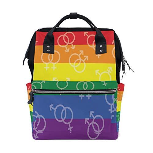 TFONE Rainbow Lesbian LGBT Equality Diaper Bag...
