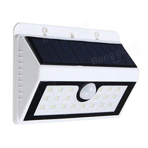 BAZAAR solaire Powered PIR Motion Sensor 20 LED Applique Murale Outdoor Jardin Lampe de sécurité