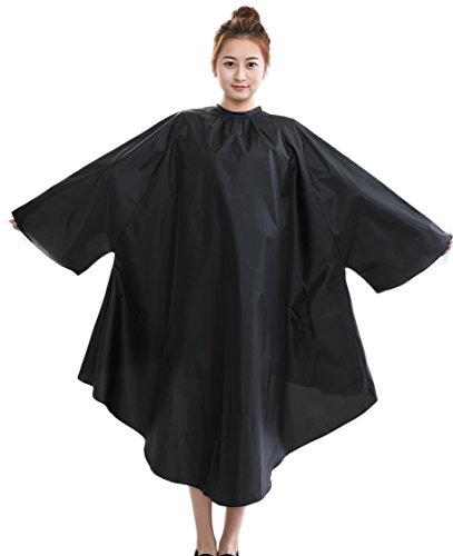 Salon Client Hair Cutting Cape Gown, Professional Barber Haircut Cape with Sleeves