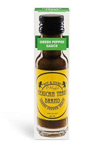 Mexican Tears® - Green Pepper Sauce, scharfe Sauce aus Chili & Meersalz, perfekt als Grill-Zubehör für BBQ Sauce, Pulled Pork & zum Aufpeppen von Pizza [100ml Chilisauce]