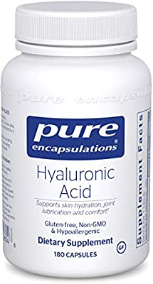 Pure Encapsulations - Hyaluronic Acid - Hypoallergenic Supplement Supports Skin Hydration, Joint Lubrication and Comfort - 180 Capsules
