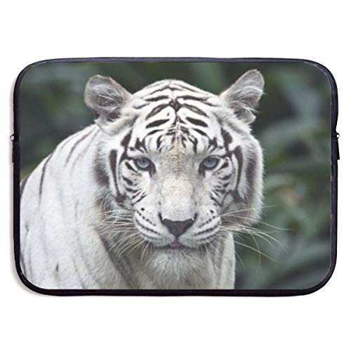 Gao808yuniqi White Tiger Laptop Sleeve Shoulder Bag for Women, Protective Carrying Case Compatible with 13-15 Inch MacBook Pro, Air, Notebook,Slim Sleeve