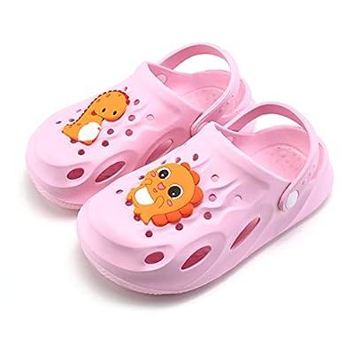 UBFEN Kids Garden Clogs Shower Pool Beach Sandals Dinosaur Slide Sandals
