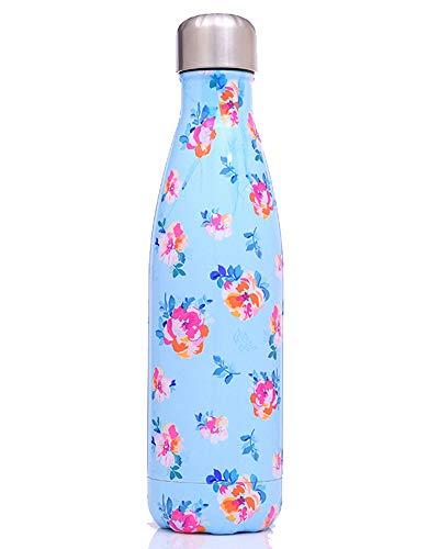 500ml Doppelwandig Trinkflasche Edelstahl Wasserflasche Vakuum Isolierflasche Mehrfarbigl,Farbe 18,500ml