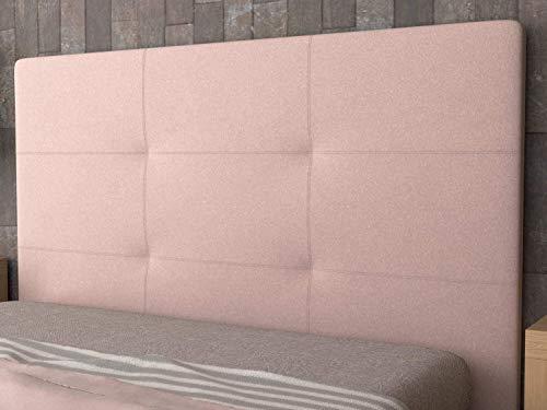 LA WEB DEL COLCHON - Cabecero tapizado Andrea para Cama de 90 (100 x 120 cms) Rosa Palo Textil Suave