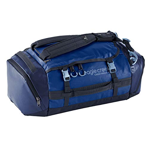 Eagle Creek Cargo Hauler Duffel Bag 40L, Split Bagpack, Foldable Travel Bag, Weather and Abrasion Resistant TPU Fabric, Travel Luggage, Artic Blue, S