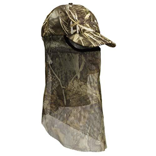 Pinewood Unisex Jagdkappe Baseball Cap mit Mosquito- BZW. Tarnnetz in Max 5 Camouflage