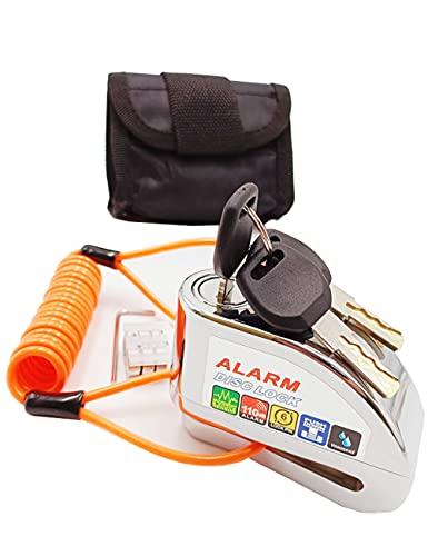Bibowa Anti-Theft Alarm Disc Lock - Motorcycle Lock - Scooter Locks -Disc Brake Lock 110dB Alarm...