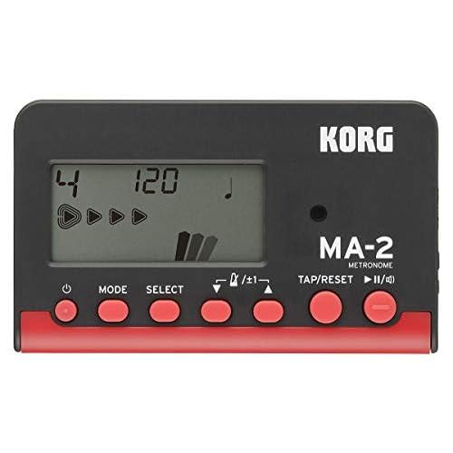 Korg MA-2LCD Metronomo Digitale Compatto, Nero/Rosso