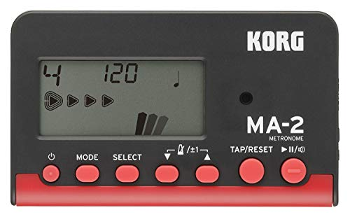 KORG MA-2 Digitales Metronom mit LCD-Display schwarz/red
