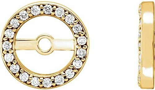 14K Yellow Gold .08 CTW Diamond Earring with mm H SALENEW very popular! 4.4 Jackets wholesale ID