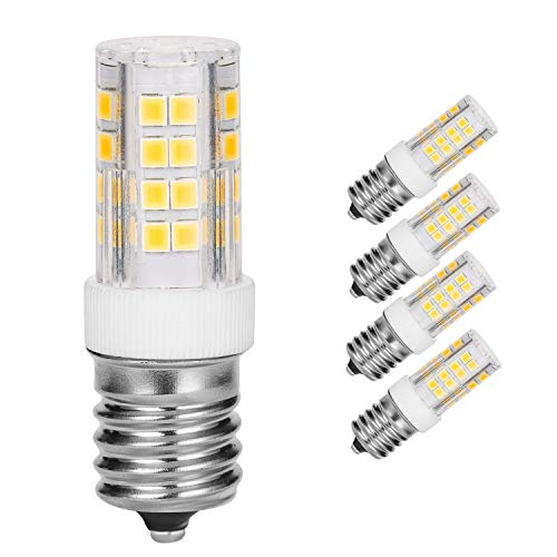 Microwave Oven Appliance 4W E17 LED Bulb (40W Halogen Bulb Equivalent) Daylight White 5000K Non-Dimmable Ceramic Body Microwave Oven Light Bulb (Pack of 4)