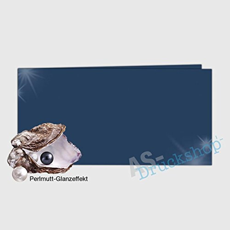 Faltkarte   Doppelkarte DIN-Lang -  Königsblau  - mit Perlmutt-Glanz - 50 Stück B01MS4ZZUW   | Shop Düsseldorf