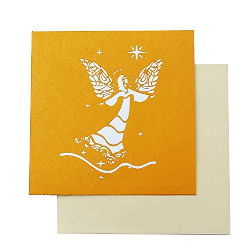 Dekali Designs Guardian Angel Pop up Card | 3D Angel Card for Christmas, Easter, Get Well Soon Card, Funeral, Bereavement, Memorial, Get Well Soon Card | Comes With Angel Blessing Inspirational Quote Photo #4