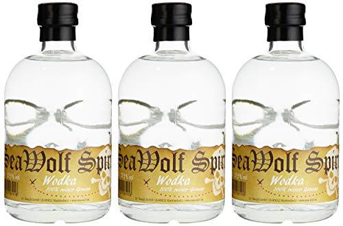 SeaWolf Spirit Piratenflasche Wodka 37.5% vol (3 x 0.5 l)