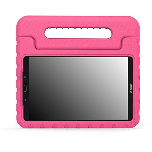 MoKo Compatible con Samsung Galaxy Tab A 10.1 2016, Ligero y Super Protective Funda diseñar Especialmente para los niños para Galaxy Tab A 10.1(SM-T580/T585, sin Lápiz), Magenta