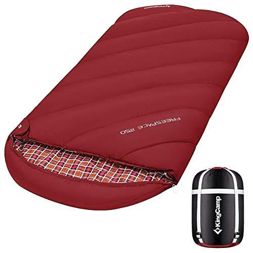 KingCamp XL Schlafsack Campingschlafsack 3 Jahreszeiten Übergröße für Erwachsene Outdoor Rucksackreisen, Wandern, leicht für drinnen und draußen