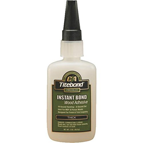 Titebond Instant Bond Wood Adhesive Thick, 2 oz.