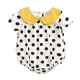 UMore Recién Nacido Algodón Niñas Bebés Monos Moda Floral Verano Bebé Ropa Body de bebé Sin Mangas Algodón Ropa para bebés con Lunares Mono por Princesa Bebé