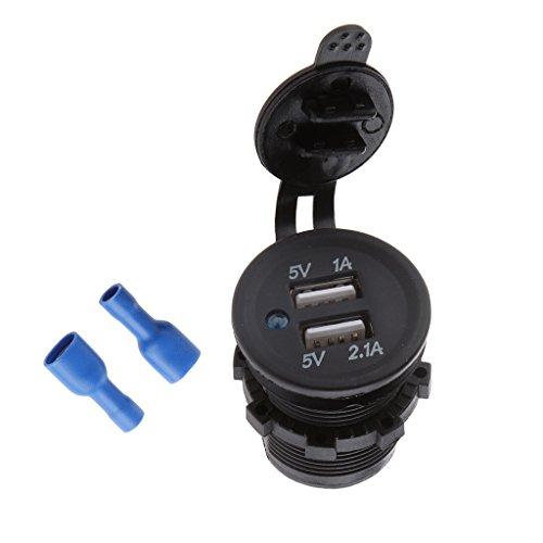 #N/A/a Impermeable Dual USB Car Adaptador de Corriente Cargador