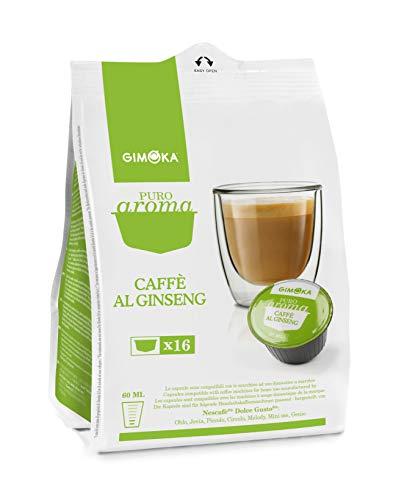 Gimoka, 64 Capsule Compatibili Con Nescafé Dolce Gusto - 4 Confezioni Da Capsule - Al Ginseng, Caffè, 16 Unità
