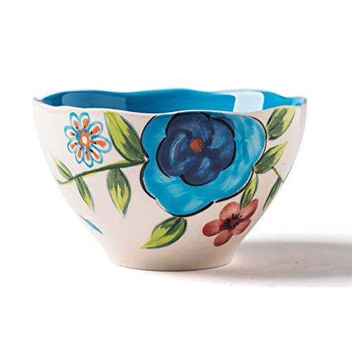 Keukenapparatuur landelijke stijl met de hand beschilderd bestek keramiek reisschaal huis dessert bowl kleine kom mueslischaal Congee Bowl soepkom