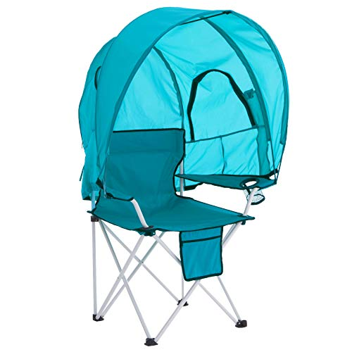 BrylaneHome Camp Chair with Canopy, Breeze
