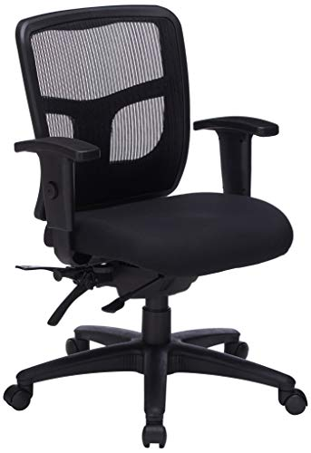Lorell Managerial Swivel Mesh Mid-Back Chair, 5.8' Height X 27.6' Width X 8.5' Length