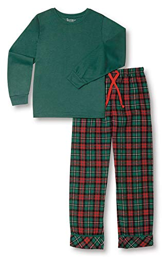 PajamaGram Boys Christmas Pajamas - Boys Flannel Pajamas, Green, 6