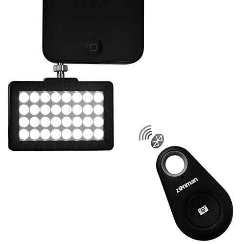 Zonman Pocket Spotlight Bluetooth Remote Set Professional Photographing and Selfies Wireless Kits...